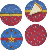 Cowboy Set of 4 Glass Appetizer / Dessert Plate 8 ...