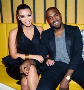 Kim and Kanye sitting