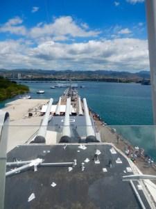 Looking from the Battleship Missouri towards the Battleship Arizona Memorial