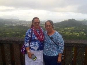 Nina and Pam at the Pali Overlook