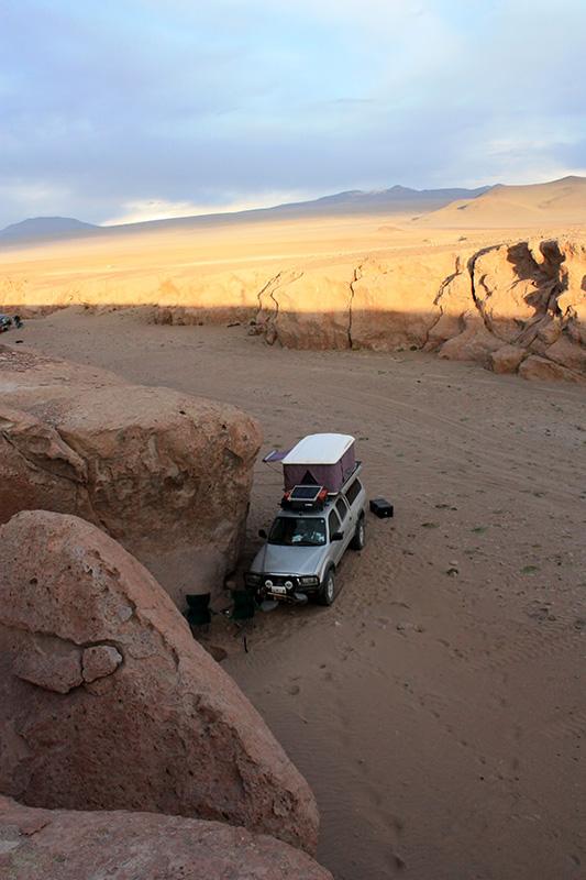Camping spot #8 - near Laguna Colorado