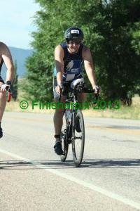The only shot of me on the bike during the race