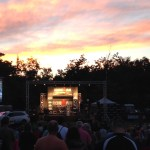 Beautiful Boulder sunset over the opening Ceremony
