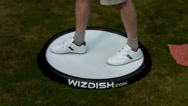 wizdish virtual reality locomotion device