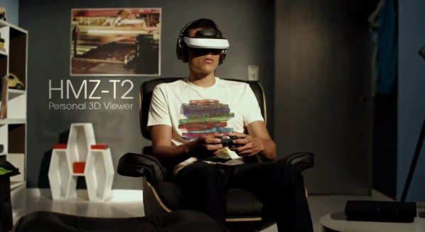 sony hmz-t2 vr headset head mounted display