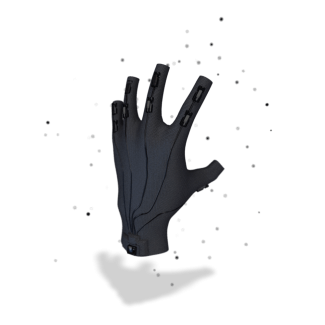 A mock-up of the 'Rapture Gloves' used for input inside The Void