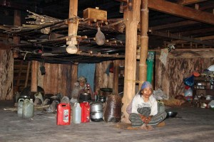 Inside a mbaru niang round house