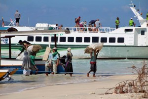 Gili island passenger ferry, Indonesia