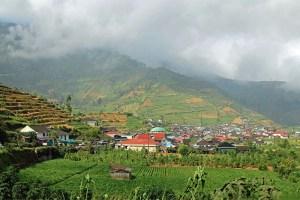 Dieng Plataeu approach, Java, Indonesia