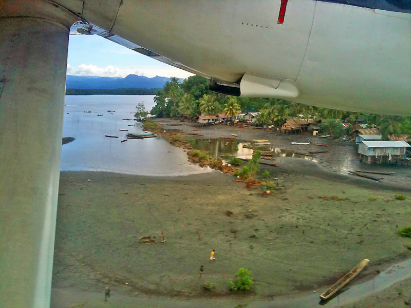 Departing from a village of the south coast of West Papua