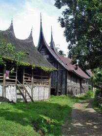 Traditional Karo Batak village houses