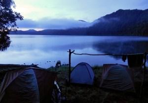 Lake Tujuh camp, Sumatra, Indonesia