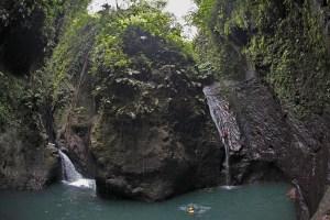 Aling gorge canyoning, Bali, Indonesia