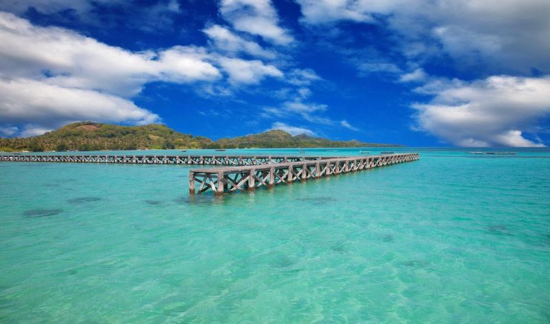 Karimunjawa island pier, Java, Indonesia