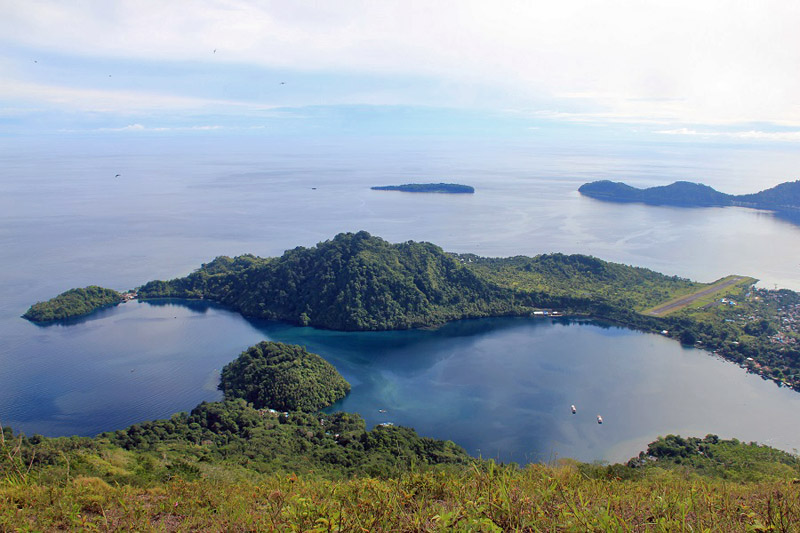 Moutn Api volcano view, Maluku Islands, Indonesia