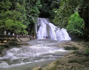 Bantimurung Waterfall and tubing area, South Sulawesi