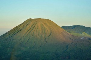 Mt Lokon and Mt Empung twin volcanoes