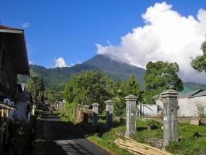 Mt Klabat as seen from Airmadidi village