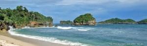 Pretty White Sand Beach, south of Blitar, East Java