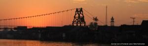 Sunrise on Pontianak canal, West Kalimantan