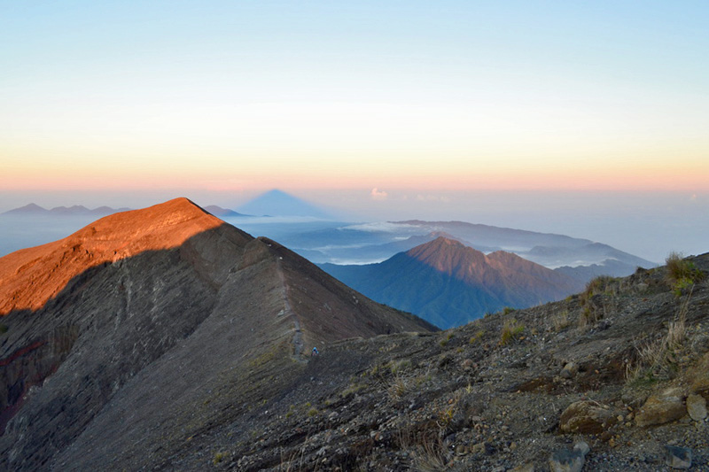View from the summit of Mount Agung