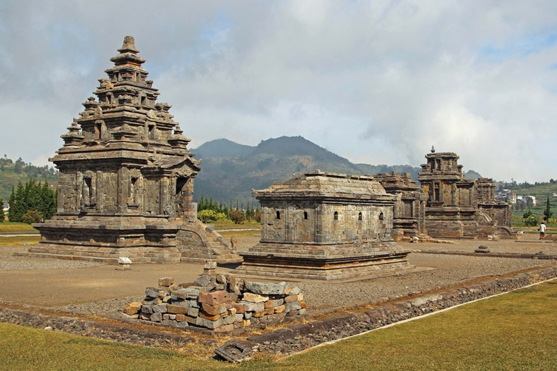 Ancient Hindu temples at Dieng Plateau, Central Java