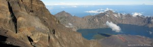 Segara Anak Crater Lake from Rinjani summit