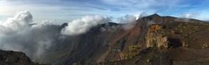 Mount Tambora's massive volcanic crater, Sumbawa