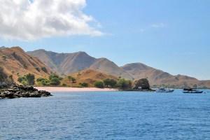 Pink Beach (Pantai Merah) on Komodo Island, Indonesia