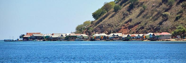 Bajo sea gypsy village at Kukusan Island, Komodo National Park