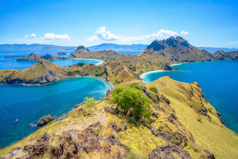 Padar Island as seen from the top of Limestone Hill