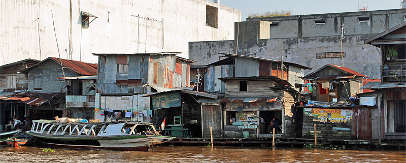 Old riverside quarter, Banjarmasin, South Kalimantan