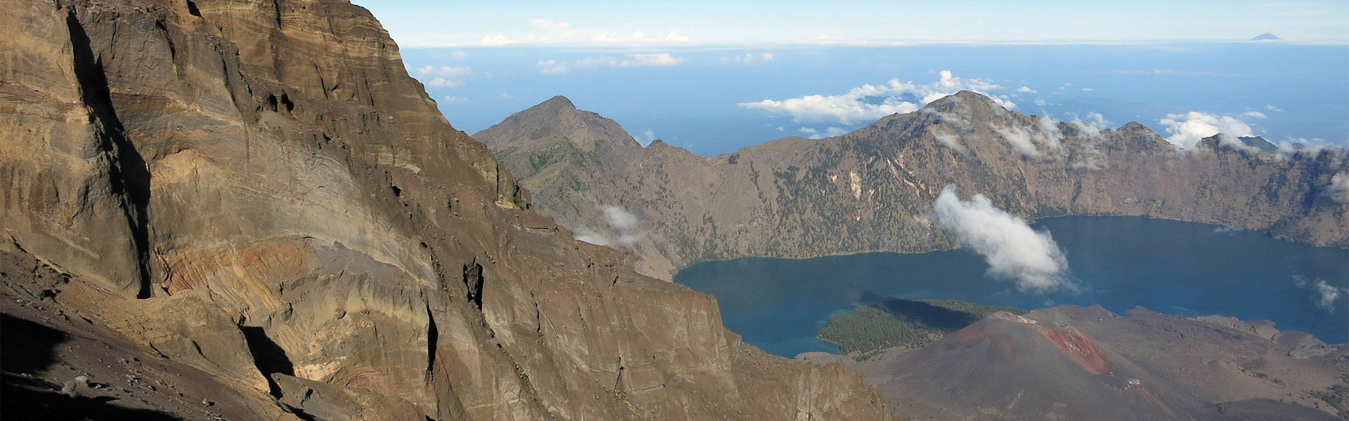 Segara Anak Crater Lake from Rinjani summit