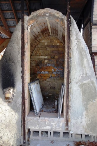 The door of the kiln was open when we house sat here over the winter