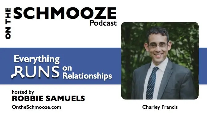 On the Schmooze podcast graphic