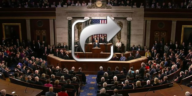 State of the Union screen capture, with a sharing icon overlay