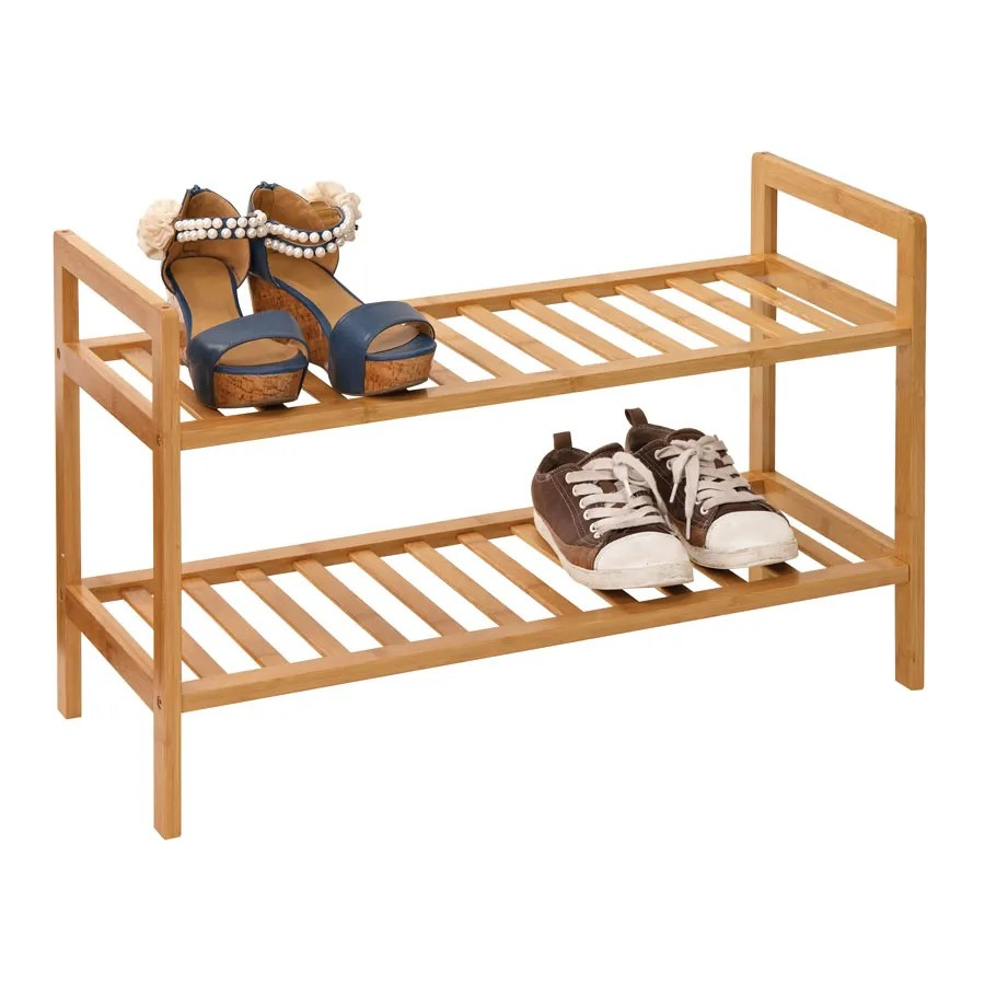 2 Tier Stacking Shoe Tidy Clear
