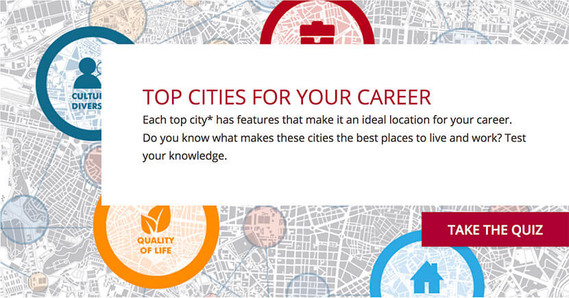 Career City Index The Best Cities to Live and Work Robert Half