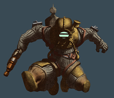 Photoshop Tutorial : Bioshock Videogame Digital Painting - Shadows