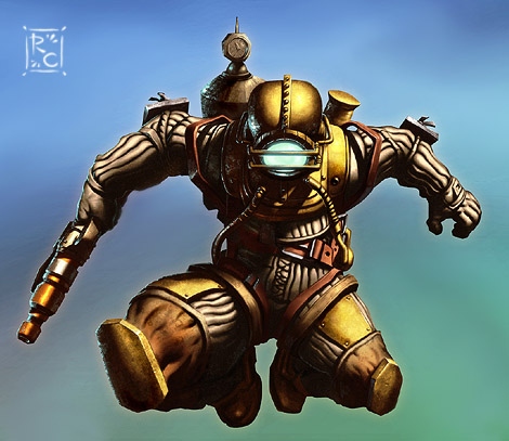Photoshop Tutorial : Bioshock Videogame Digital Painting - Highlights