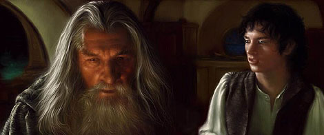 Painter Tutorial: Lord Of The Rings Characters Portraits - Step 3
