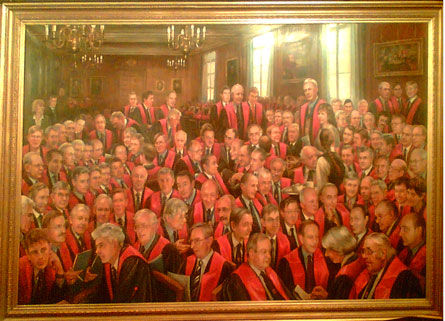 A portrait in the Royal College of Surgeons