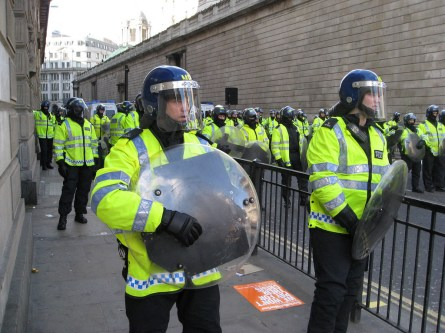 Riot Police at the G20 Protests, London, 1st April 2009