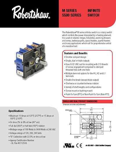 robertshaw infinite switch 240v wiring diagram