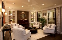 Stylish Transitional Living Room Robeson Design | San ...