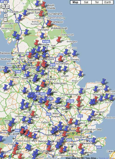 Traditional crafts mapping project, are you on the map? - Robin Wood - pins on a map