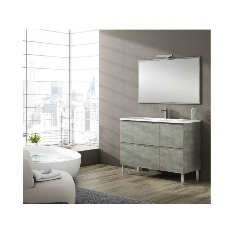 Meuble salle de bain sur pieds bali 4 tiroirs, Robinet and Co Meuble