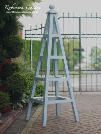 Wood Garden Obelisk Trellis - Garden Ftempo