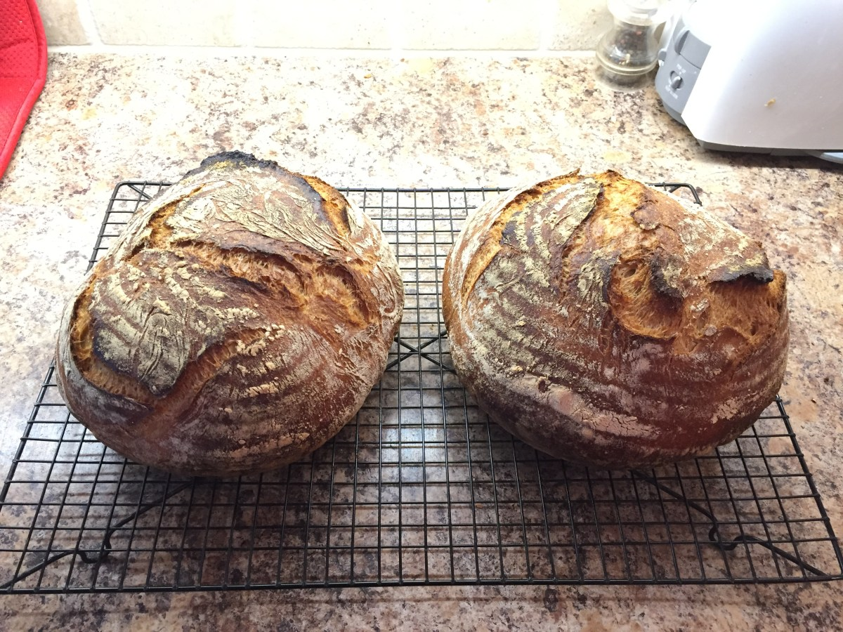 The weekend is for making bread.