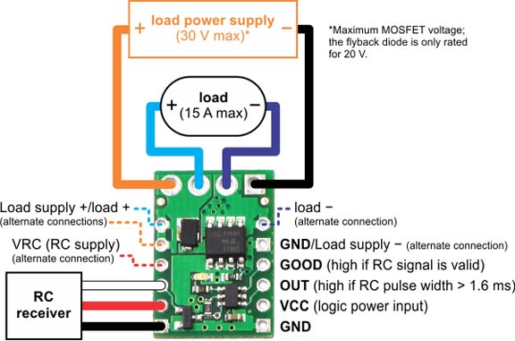 Robot MarketPlace - RC Switch with Medium Low-Side MOSFET